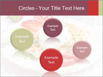 Belgian waffles with fresh strawberries PowerPoint Template - Slide 77