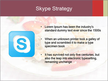 Belgian waffles with fresh strawberries PowerPoint Template - Slide 8