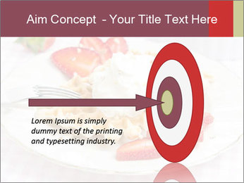 Belgian waffles with fresh strawberries PowerPoint Template - Slide 83