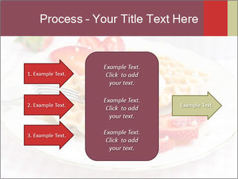 Belgian waffles with fresh strawberries PowerPoint Template - Slide 85