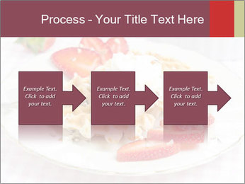 Belgian waffles with fresh strawberries PowerPoint Templates - Slide 88