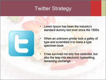 Belgian waffles with fresh strawberries PowerPoint Template - Slide 9