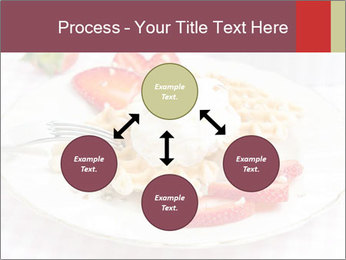 Belgian waffles with fresh strawberries PowerPoint Templates - Slide 91