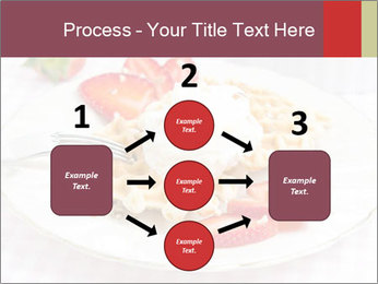 Belgian waffles with fresh strawberries PowerPoint Template - Slide 92