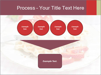 Belgian waffles with fresh strawberries PowerPoint Template - Slide 93