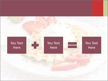 Belgian waffles with fresh strawberries PowerPoint Template - Slide 95