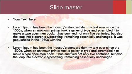 Belgian waffles with fresh strawberries PowerPoint Template - Slide 2