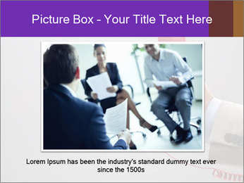 Red phone over gray background PowerPoint Template - Slide 15