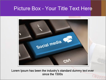 Red phone over gray background PowerPoint Template - Slide 16