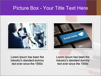 Red phone over gray background PowerPoint Template - Slide 18