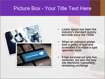 Red phone over gray background PowerPoint Template - Slide 20