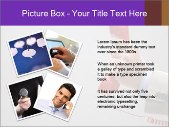 Red phone over gray background PowerPoint Templates - Slide 23