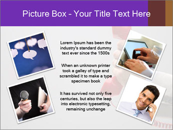 Red phone over gray background PowerPoint Templates - Slide 24