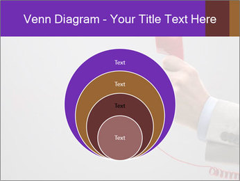 Red phone over gray background PowerPoint Template - Slide 34
