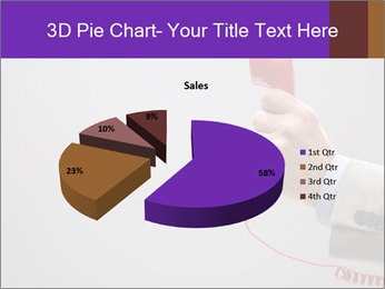 Red phone over gray background PowerPoint Templates - Slide 35