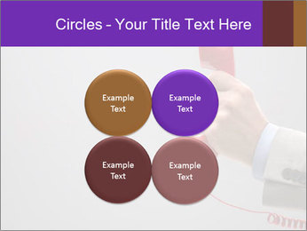 Red phone over gray background PowerPoint Templates - Slide 38