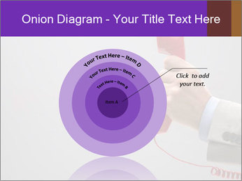 Red phone over gray background PowerPoint Templates - Slide 61