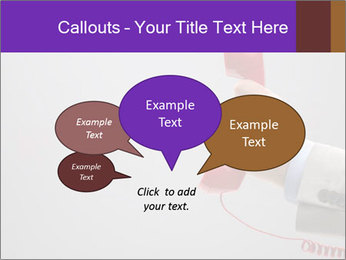 Red phone over gray background PowerPoint Templates - Slide 73