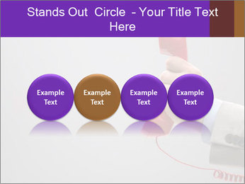 Red phone over gray background PowerPoint Templates - Slide 76