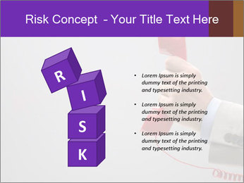 Red phone over gray background PowerPoint Template - Slide 81