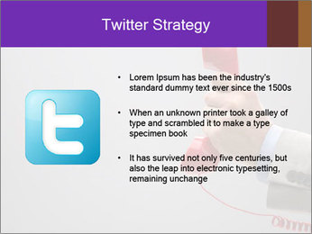 Red phone over gray background PowerPoint Template - Slide 9