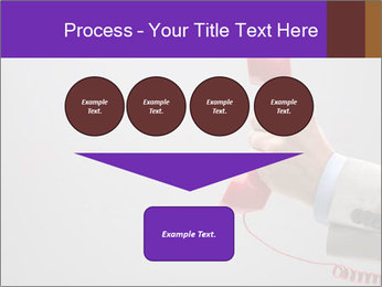 Red phone over gray background PowerPoint Templates - Slide 93