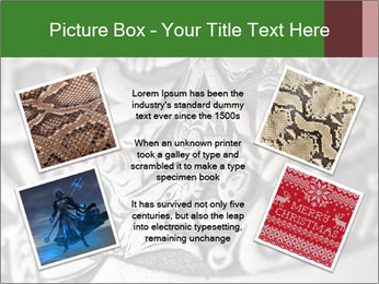 Viking wood carving depicting a dragon PowerPoint Template - Slide 24