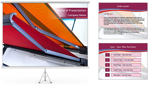 Fabric blinds PowerPoint Template