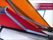 Fabric blinds PowerPoint Templates