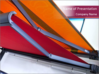 Fabric blinds PowerPoint Templates - Slide 1