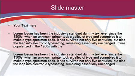 Fabric blinds PowerPoint Template - Slide 2