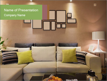 Modern living room PowerPoint Templates - Slide 1