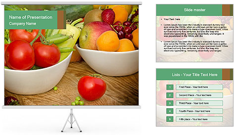Fresh fruits and vegetables PowerPoint Template