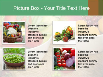 Fresh fruits and vegetables PowerPoint Templates - Slide 14