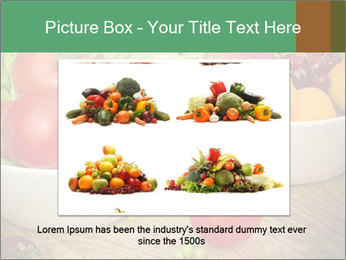 Fresh fruits and vegetables PowerPoint Templates - Slide 15