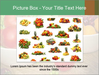 Fresh fruits and vegetables PowerPoint Templates - Slide 16