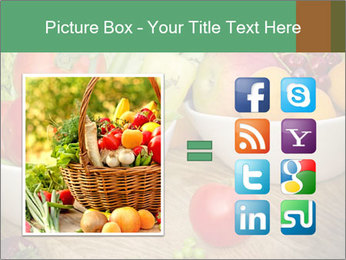 Fresh fruits and vegetables PowerPoint Templates - Slide 21