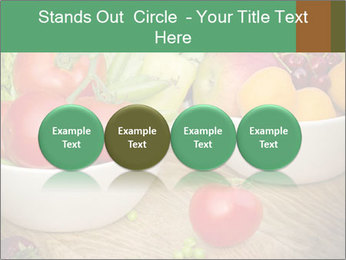 Fresh fruits and vegetables PowerPoint Templates - Slide 76