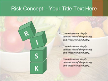 Fresh fruits and vegetables PowerPoint Templates - Slide 81