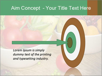 Fresh fruits and vegetables PowerPoint Templates - Slide 83