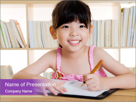 Lovely asian girl PowerPoint Templates
