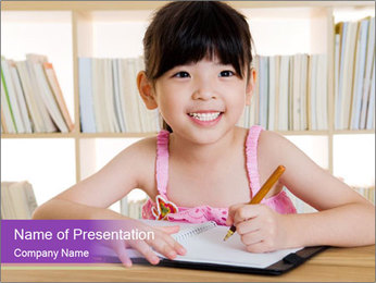 Lovely asian girl PowerPoint Template