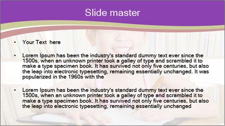 Lovely asian girl PowerPoint Template - Slide 2