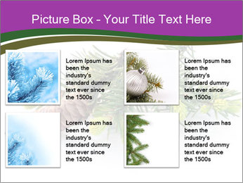 Fir branch with cone PowerPoint Template - Slide 14