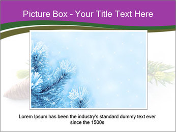 Fir branch with cone PowerPoint Template - Slide 15