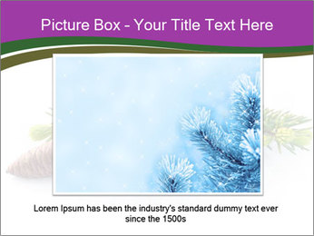 Fir branch with cone PowerPoint Template - Slide 16