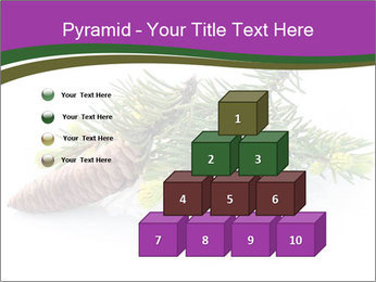 Fir branch with cone PowerPoint Template - Slide 31