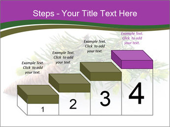 Fir branch with cone PowerPoint Template - Slide 64