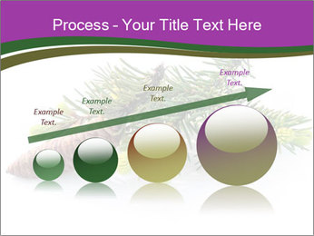 Fir branch with cone PowerPoint Template - Slide 87