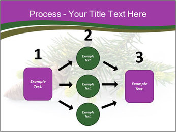 Fir branch with cone PowerPoint Template - Slide 92